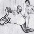Ретро леди с мужем и любовником